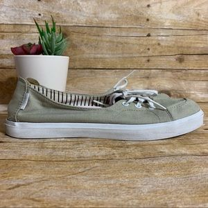Vans topsiders 7.5 slip on lace up canvas shoe
